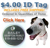 $4.00 ID Tags with FREE reflectors...Click HERE to order!