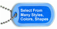 Choose from 4 distinctly different necklace tags...