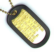 See our full range of authentic embossed GI tags in 4 finishes - CLICK HERE